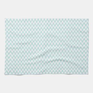Small Light Baby Blue & White Chevron Stripes Towel