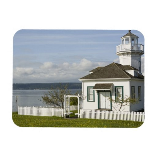 Small lighthouse in Port Townsend, WA Rectangular Magnet