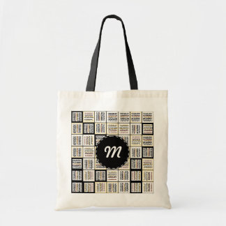 Small line segments tote bag