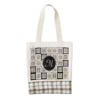 Small line segments zazzle HEART tote bag