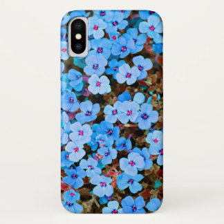 Small Lite Blue Flowers iPhone X Case
