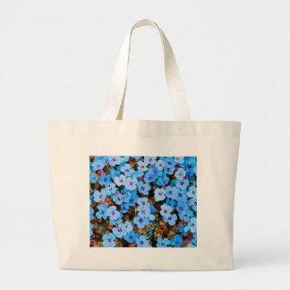 Small Lite Blue Flowers Large Tote Bag