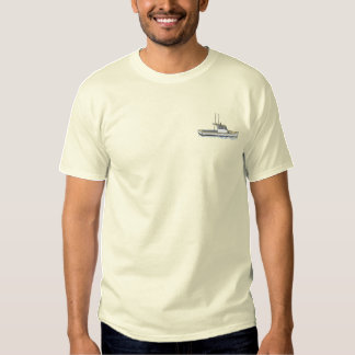 Small Lobster Boat Embroidered T-Shirt