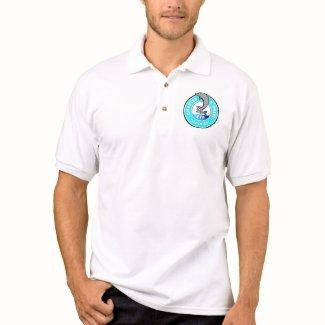 Small Logo, White - Men's Polo T-shirt