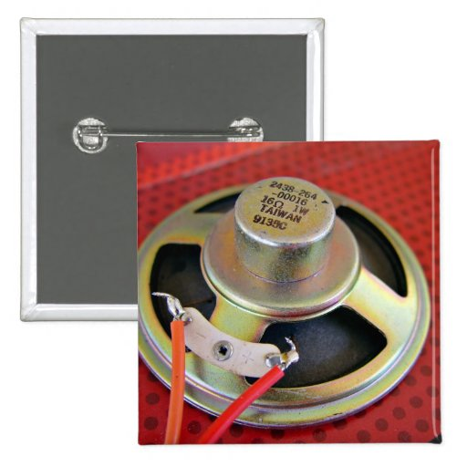 Small Loudspeaker Pinback Button