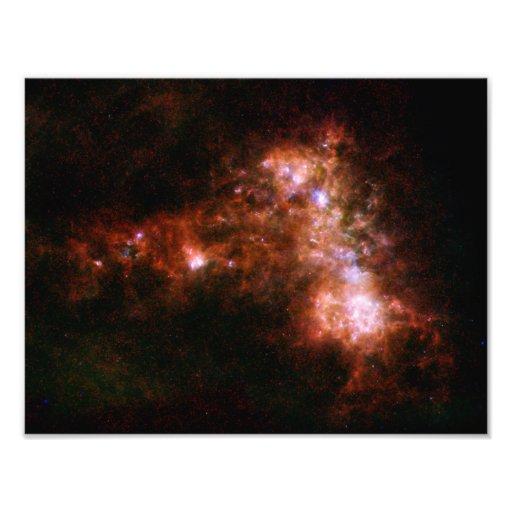 Small Magellanic Cloud Galaxy Star Formation Photographic Print