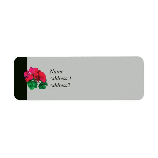 Small Magenta Geranium Label