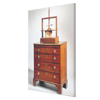 Small Mahogany chest of drawers by Sheraton Canvas Print