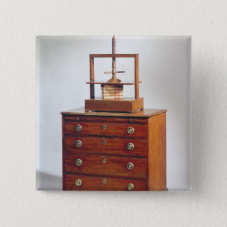 Small Mahogany chest of drawers by Sheraton Pinback Button