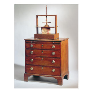 Small Mahogany chest of drawers by Sheraton Postcard