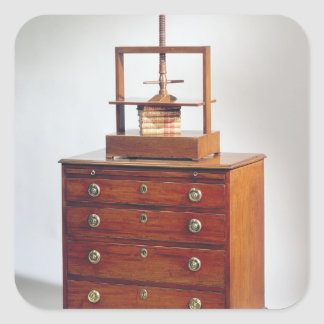 Small Mahogany chest of drawers by Sheraton Square Sticker