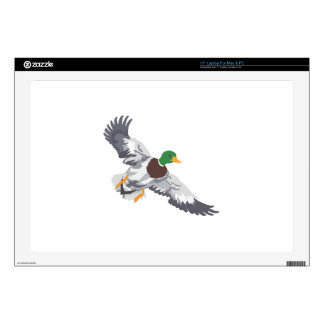 """SMALL MALLARD FOR CAPS 17"""" LAPTOP DECAL"""