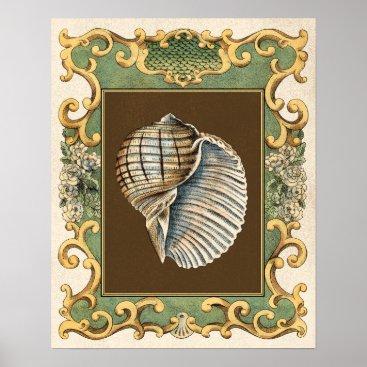 Beach Themed Small Mermaid's Shells Poster