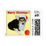 Small Merry Christmas Gimli Gold Postage Stamps
