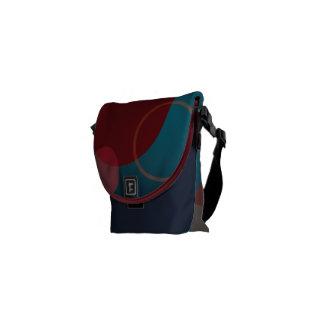 Small Messenger Travel Bag with Polka Dots