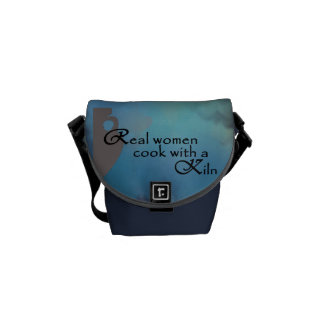 Small midnight Blue color Pottery themed Bag