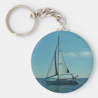 Small Modern Yacht Keychain