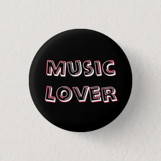 "Small ""Music Lover"" Button"