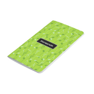 Small music notes journal