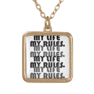 Small My Life My Rules necklace