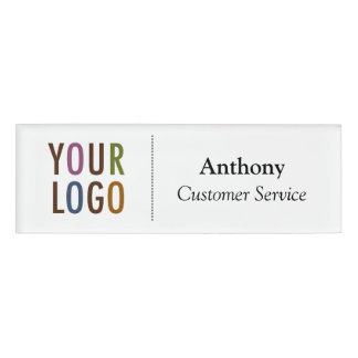 Small Name Badge Magnet Custom Logo Employee Staff