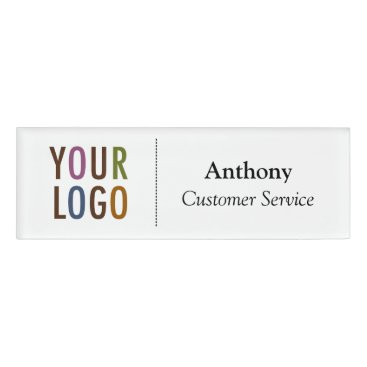 Professional Business Small Name Badge Magnet Custom Logo Employee Staff