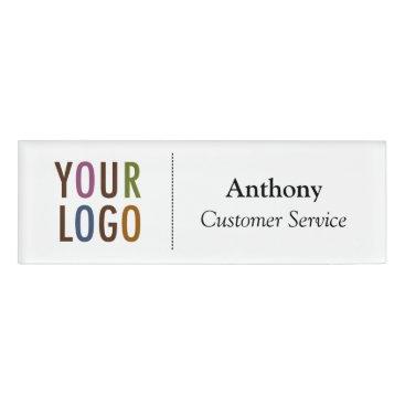 MISOOK Small Name Badge Magnet Custom Logo Employee Staff Name Tag