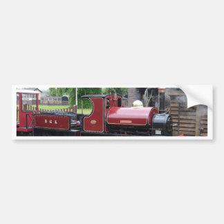 Small Narrow Gauge Locomotive Car Bumper Sticker