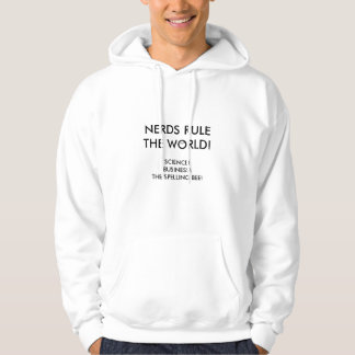 small nerd glasses, NERDS RULE THE WORLD!, SCIE... Hoodie