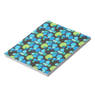 Small Notepad or Jotter Blue Moons on Black