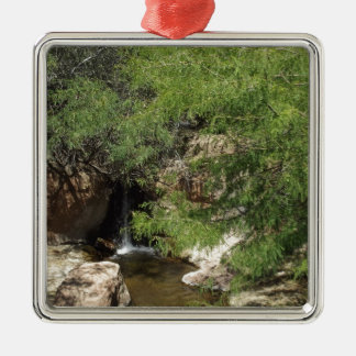 Small Oasis Metal Ornament