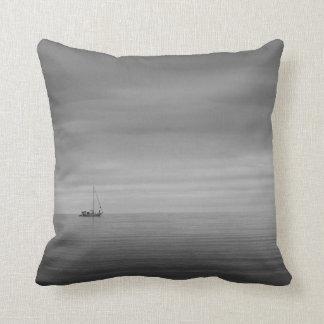 Small Offset Sailboat Pillow