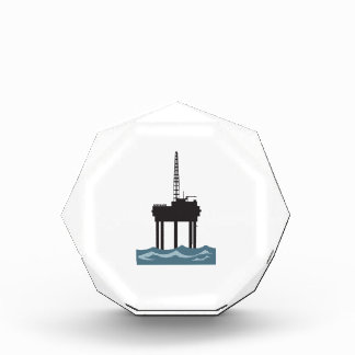 SMALL OFFSHORE OIL RIG ACRYLIC AWARD
