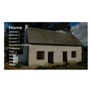 Small Old Cobb Cottage Business Card Template