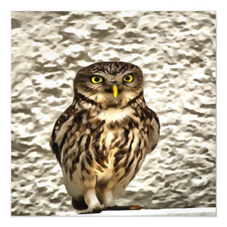 Small Owl In Camouflage Magnetic Card