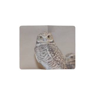 Small Owl Pocket Moleskine Notebook Cover With Notebook