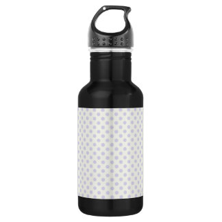 Small pale lavender purple polka dots stainless steel water bottle