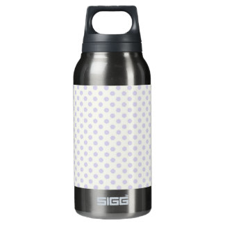 Small pale lavender purple polka dots thermos bottle