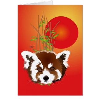 Small panda (Ailurus fulgens) map with saying Card
