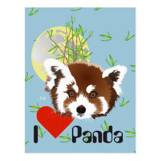 Small panda (Ailurus fulgens) postcard