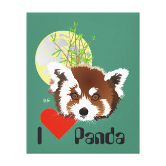 Small panda (Ailurus fulgens) wedge canvas