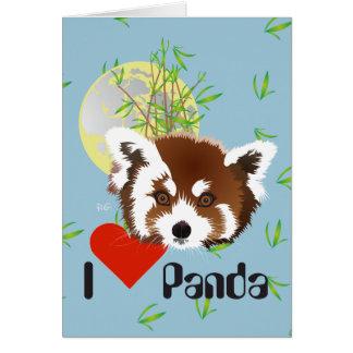 Small panda (Ailurus fulgens) with saying Card