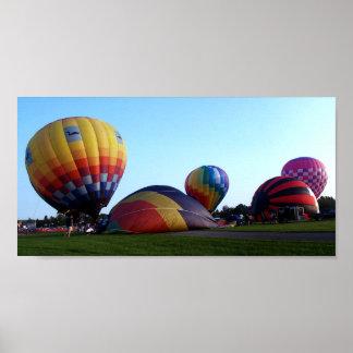 Small Panoramic Of Hot Air Balloons Poster