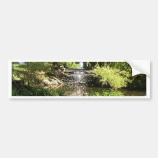 Small Park Waterfall Bumper Sticker