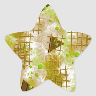small particles,green star sticker