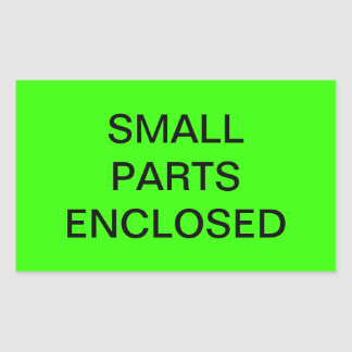 Small Parts Enclosed Shipping Label Rectangular Stickers