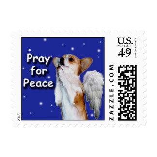 Small Peace Prayer Dott Angel Stamps