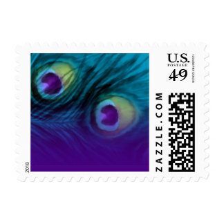 SMALL Peacock Fantasy Set 1111 Postage Stamp