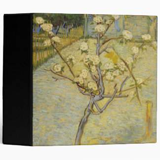 Small pear tree in blossom 3 ring binder