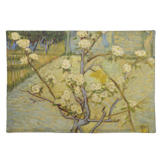 Small pear tree in blossom American MoJo Placemat Cloth Place Mat